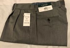 GENUINE RALPH LAUREN MENS CLASSIC FIT MICROFIBRE DRESS TROUSERS GREY 34W X 32L