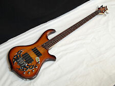 TRABEN Array Limited 4-string BASS guitar - Spalt Burst - Active Preamp - NEW