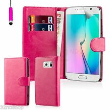 32nd Book Wallet Case Cover Samsung Galaxy Phones + Stylus & Screen Protector