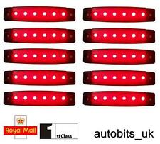 10 X 24V LED RED SIDE MARKER LIGHT LAMP TRUCK TRAILER LORRY CHASSIS WATERPROOF