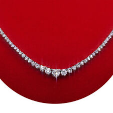 "DIAMOND NECKLACE 7.25 CARAT 14K WHITE GOLD 18"" GRADUATED"
