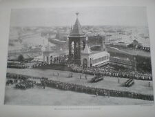 Printed photo inauguration monument to Tsar Alexander II Moscow Russia 1898