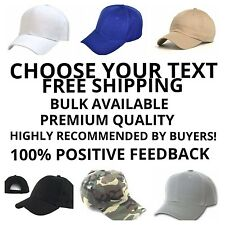 CUSTOM EMBROIDERED caps. Six Colors To Choose From. PERSONALIZED Hats
