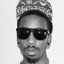 "BLACK & GOLD ""Flat Top Sunglasses"" mens guys hip hop rap locs super retro future"