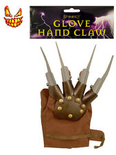 Fancy Dress Claw Hand Glove Freddy Krueger Spikes Halloween Nightmare Burnt