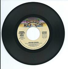 "1978 DONNA SUMMER ""HEAVEN KNOWS"" 45rpm 7"""