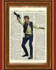 Han Solo Star Wars Dictionary Page Art Print Book Picture Poster Collectible