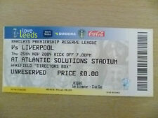 Tickets Reserve League 2004- LEEDS UNITED v LIVERPOOL, 25th Nov (Org, Exc*)