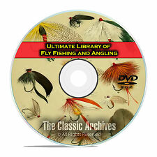 300 Books, Fly Fishing and Angling Library, Dry, Wet, Rod Making, PDF DVD E70