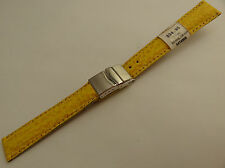 ZRC France Yellow Shark 16mm Watch Band Steel Deployment Sealock Clasp $34.95