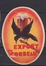 Ancienne étiquette    Alcool  France Bière  Lecelles Le Corbeau