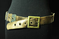 STUNNING CRAFTED TRIBAL EMERALD,GOLD & BLACK BELT FOR LADIES 29-34 inch (BL1)