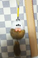 So Pretty Mink Fur Key Chain Ring Smart Cell i Phone Strap Bag Charm C