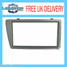 DFP-15-03 HONDA CIVIC 2001 to 2006 EP2 & EP3 DOUBLE DIN SILVER FASCIA ADAPTOR