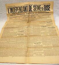 Journal ancien L'INDEPENDANT DE SEINE-&-OISE 28 Octobre 1906 27è année TBE