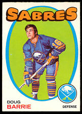 1971 72 OPC O PEE CHEE #22 DOUG BARRIE NM BUFFALO SABRES HOCKEY CARD