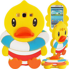 New 3D Duck In Lifejacket Case for Samsung Galaxy S3 Soft Silicone Cute Cover