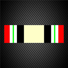 Iraq Campaign Medal Ribbon Sticker Decal U.S. Military Service Veteran Car