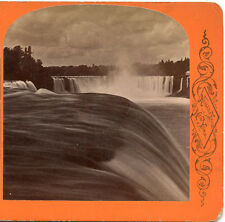G. CURTIS NIAGARA FALLS NEW YORK STEREOVIEW NIAGARA PROSPECT POINT 1875