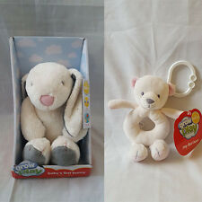 Sainsbury Babys First Bunny Grow & Play Plush Soft Toy Comforter with Rattler