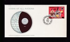 1980 Mali 1961 5 Francs Maliens Coin Stamp Cover FDC Coins All Nations Set B-879