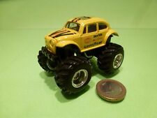 EDOCAR  VW VOLKSWAGEN BEETLE - MONSTER TRUCK - YELLOW L7.5cm - GOOD CONDITION