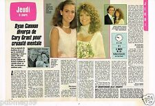 Coupure de presse Clipping 1986 (2 pages) Dyan Cannon et Cary Grant