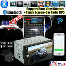"7""HD Double 2DIN Car Stereo MP5 Player Bluetooth Touchscreen FM Radio USB SD NE"
