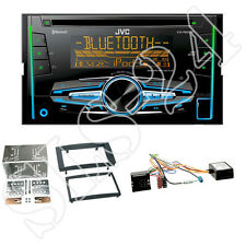 JVC KW-DB92BT + 2-DIN CD/USB Radio + VW T5 Blende schwarz + Can-Bus Adapter Set