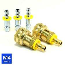 Foster 4 Series Quick Coupler 3/8 Body 3/8 Push-on Hose Barb Air water Fittings