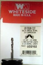 "Whiteside UD2102 1/4"" Compression Spiral Router Bit 1"" Cut Length Double Flute"