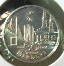 1987 Merdeka  30 anniversary $10 Silver  coin !Very High Grade