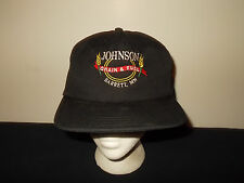 VTG-1990s Johnson Grain & Fuel Barrett Minnesota farming ag snapback hat sku22