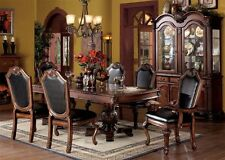 7pc Chateau De Ville Traditional Cherry Finish Dining Table Set