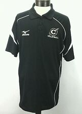 MIZUNO Drylite Black Lightweight Polo C Volleyball Shirt Mens Large L EXCELLENT