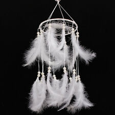 Large Feather Beads Handmade Dream Catcher Car Wall Door Hanging Decor Ornament