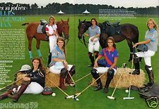 Coupure de presse Clipping 2012 (6 pages) Polo Club Chantilly Filles Gengis Khan