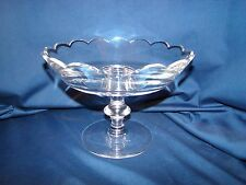 Val St. Lambert Crystal Scalloped Compote