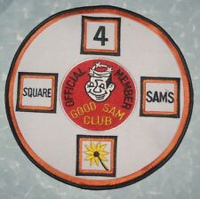 "Good Sam Club Official Member Patch - 4 Square - large size - 7"" x 7"""