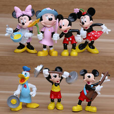 Mickey Minnie Mouse Donald Duck Action Figure Cake Topper Kid Car Decor Doll Toy
