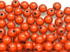 200 Red 3D Illusion Acrylic Miracle Round beads 8mm Spacer