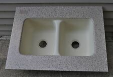 """Composite Double Bowl One Piece Sink 38"""" L x 28"""" W Kitchen Laundry Store Display"""