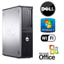 DELL DUAL CORE 2 DUO 3.0GHz DESKTOP COMPUTER 4GB RAM 2TB WiFi WINDOWS 7 + OFFICE