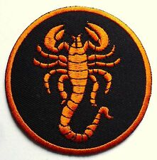 SCORPION HOROSCOPE - SEW OR IRON ON BIKER MOTORCYCLE PATCH 80mm x 80mm