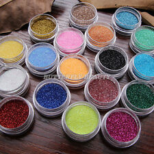 18 Color Nail Art Glitter Dust for UV Gel Polish Gradient Color Manicure Design