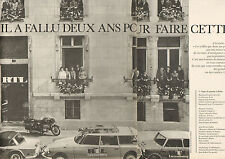 Publicité Advertising 1968 (Double page) Radio RTL  2 ans pour faire cette photo