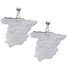 Orecchini In attesa di grande Cartina d' Spagna in argento MASSICCIO NUOVO