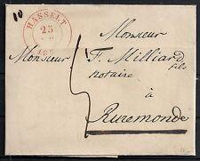 Belgium 185? folded cover Hasselt to Ruremonde