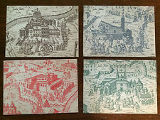Vatican City 1983 Set of 4 Registered FD Postcards View of Vatican by Massaio