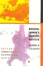Marshal Zhukov's Greatest Battles, Zhukov, Georgi K., Good Book
